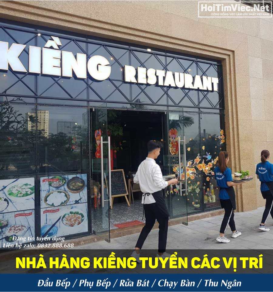 Tuyển nhân viên các vị trí lương cao – Kiềng Restaurant