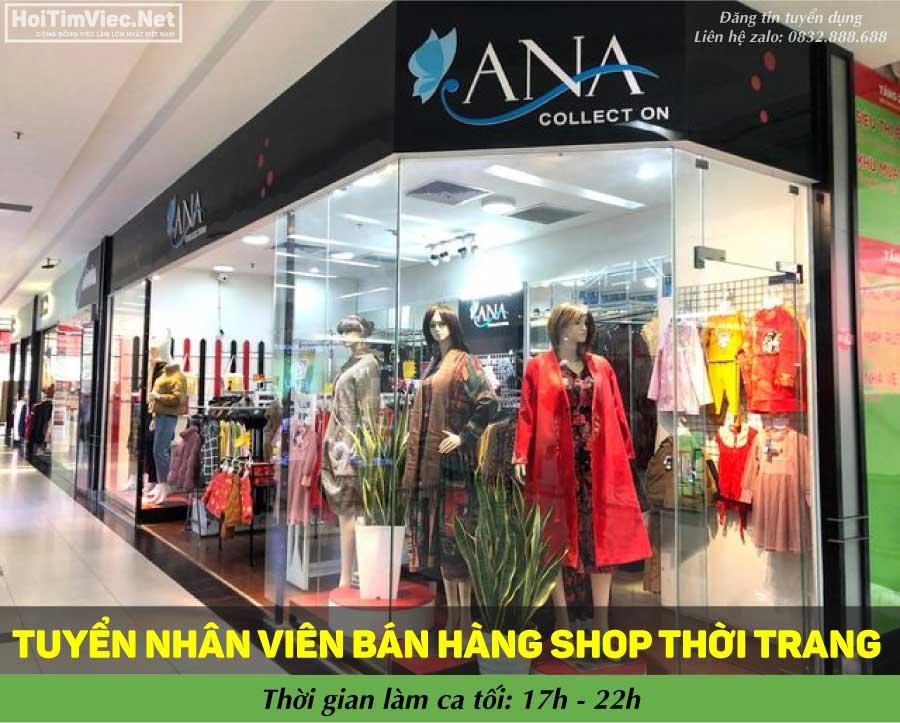 Tuyển nhân viên bán hàng ca tối – Shop Ana