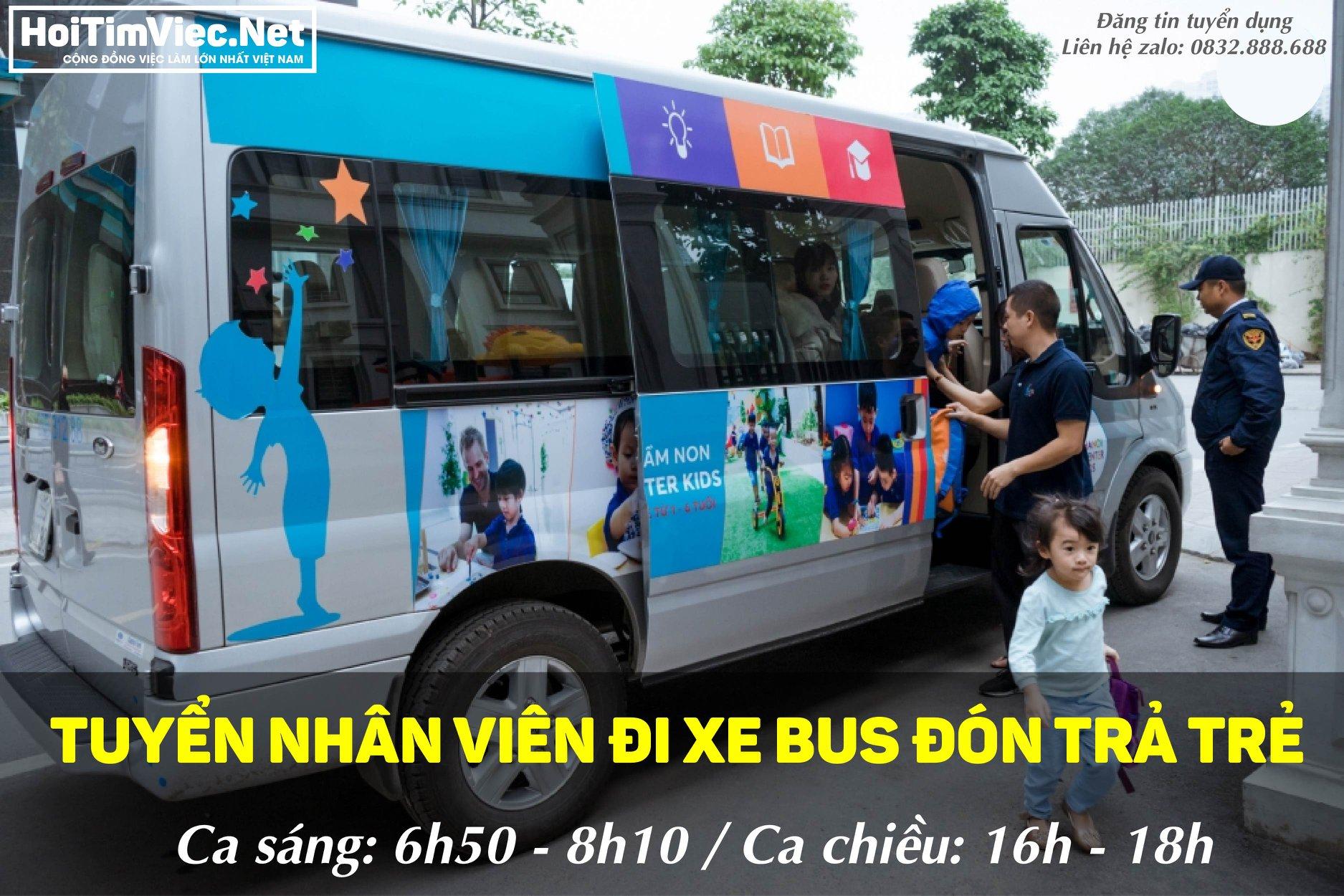 Tuyển nhân viên đưa đón học sinh theo xe bus