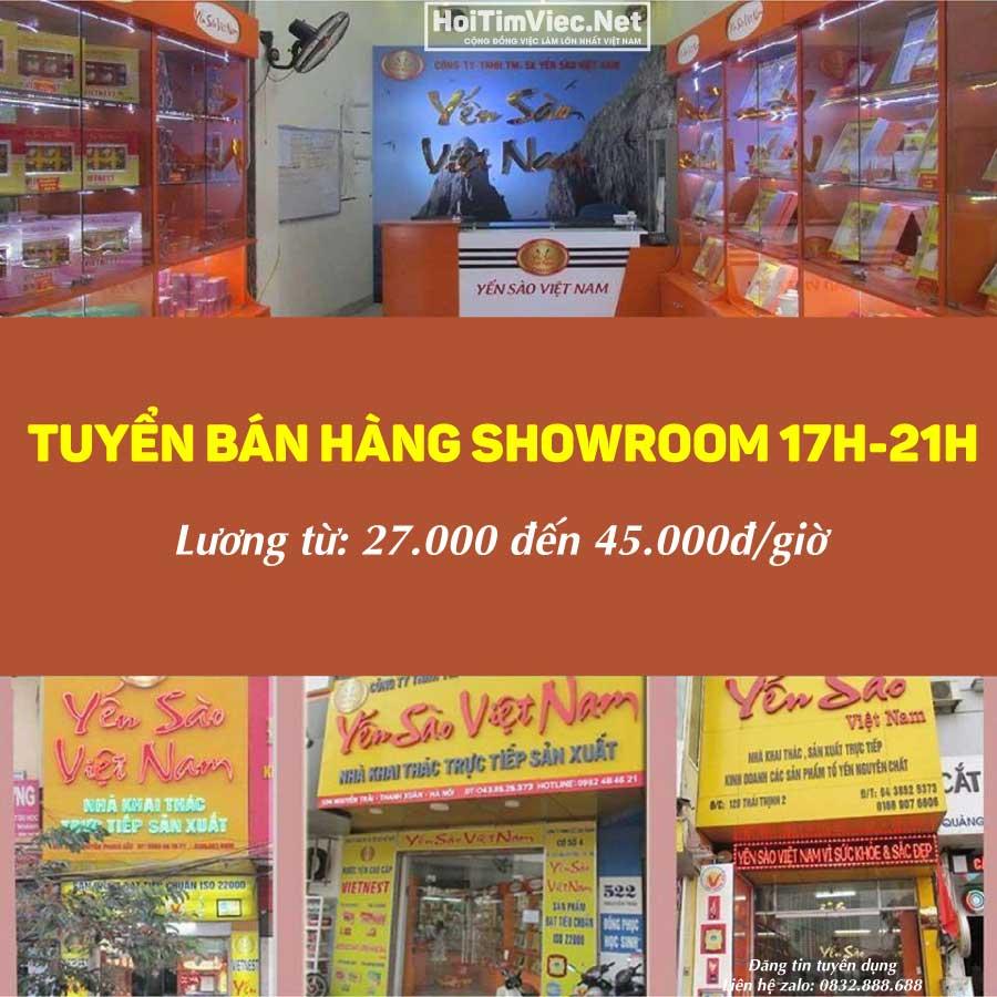 Tuyển nhân viên bán hàng showroom 17h – 21h