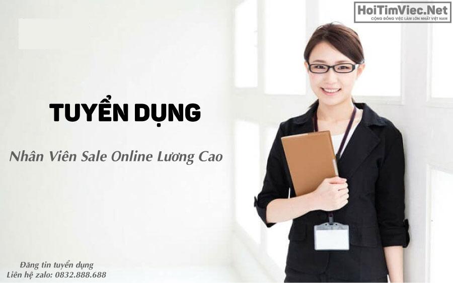 Tuyển nhân viên sale online ( trực page, chốt đơn) lương cao