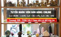 Tuyển nhân viên bán hàng online – Cửa hàng đá phong thủy