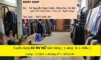 Tuyển nhân viên bán hàng – Bi – Kay Shop