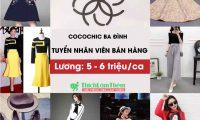 Tuyển nhân viên bán hàng – Shop thời trang nữ Hàn Quốc Cocochic