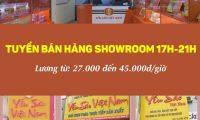 Tuyển sinh viên bán hàng Showroom yến sào 17h-21h