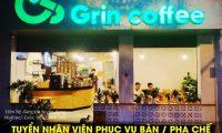 Tuyển nhân viên phục vụ bàn, pha chế – Grin coffee