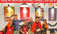 Tuyển nhân viên các vị trí – Nhà hàng HongKongTown và Health Wich