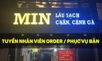 Tuyển nhân viên phục vụ, order – Nhà hàng Lẩu sạch Min Quán