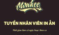 Tuyển thợ chính in lưới và thợ phụ – Monkee printing