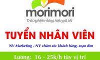 Tuyển nhân viên marketing, chăm sóc khách hàng và chốt đơn – Mori Mori Shop