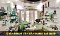 Tuyển nhân viên bán hàng tại shop – Shop mỹ phẩm