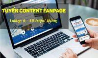 Tuyển nhân viên content Fanpage