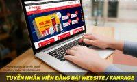 Tuyển nhân viên đăng bài website, fanpage – Công ty online