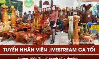 Tuyển nhân viên livestream, bán hàng online – Shopgomynghevip.com