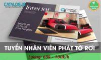 Tuyển nhân viên phát tờ rơi tại các chung cư mới bàn giao tại Hà Nội