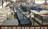 Tuyển nhân viên lắp ráp xe đạp thời vụ bao ăn ở – Công ty TNHH SXTM Việt Hùng