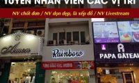 Tuyển nhân viên chốt đơn, dọn hàng, livestream – Shop thời trang Rain Bow