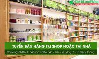 Tuyển nhân viên bán hàng tại shop hoặc ở nhà – Cửa hàng Mỹ phẩm Naris