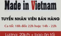 Tuyển nhân viên bán hàng – Cửa hàng quần áo nữ Made in Vietnam