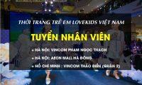 Tuyển nhân viên bán hàng – Nhãn hiệu thời trang trẻ em Lovekids Vietnam
