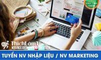 Tuyển nhân viên nhập liệu, quản lý fanpage – Shop online