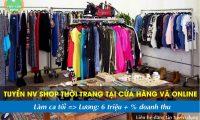 Tuyển nhân viên bán hàng tại shop và online – Shop online
