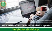 Tuyển nhân viên share bài làm việc tại nhà – Shop đồng hồ online