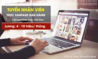 Tuyển nhân viên trực fanpage facebook – Shop bán hàng online