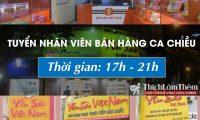 Tuyển nhân viên bán hàng ca tối – Công ty yến sào Việt Nam
